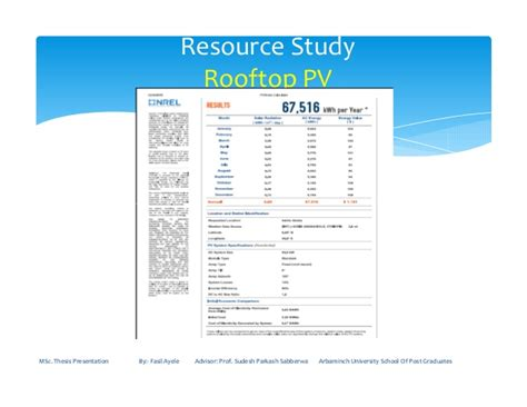 msc thesis advisor thesis on hybrid renewable energy system for condo