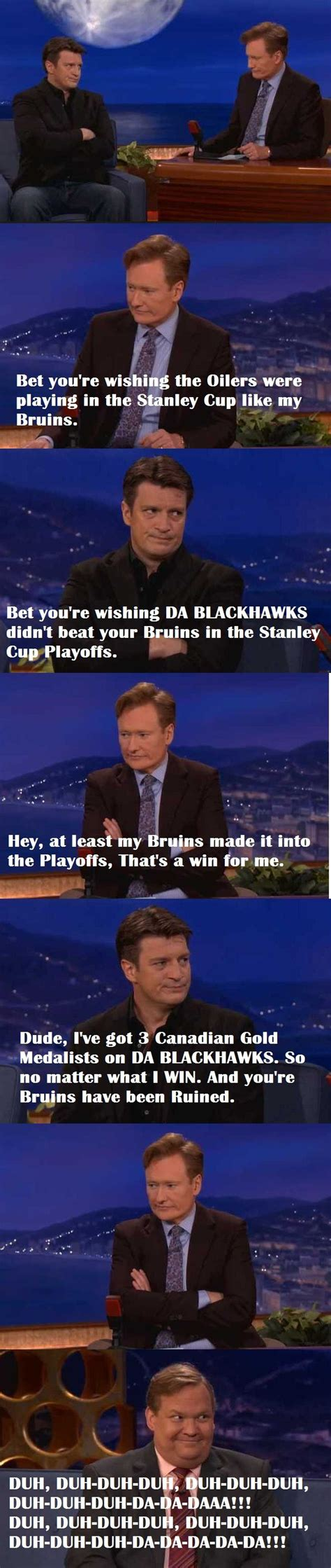 nathan fillion conan meme sports heroes pinterest