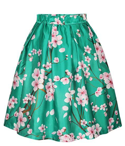 2015 skirt floral digital printing green puff