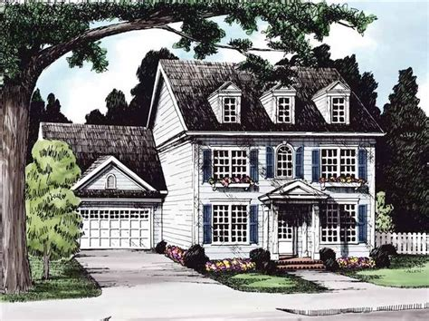 eplans colonial house plan two story great room 2256 eplans georgian house plan stately colonial two story