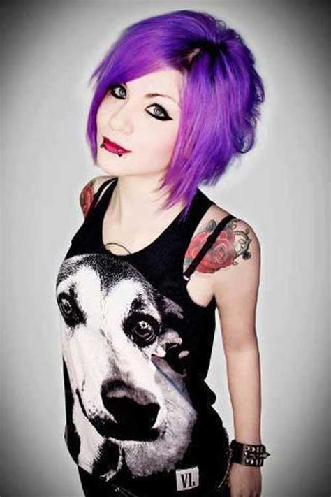 girl hairstyles purple 30 hair color ideas for short hair short hairstyles 2017