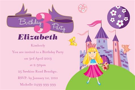 childrens birthday invitation template birthday invitations 365greetings