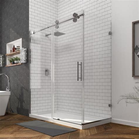 Glass Panel Shower Door Shop Ove Decors Sydney 78 75 In H X 30 25 In W Shower Glass Panel At Lowes