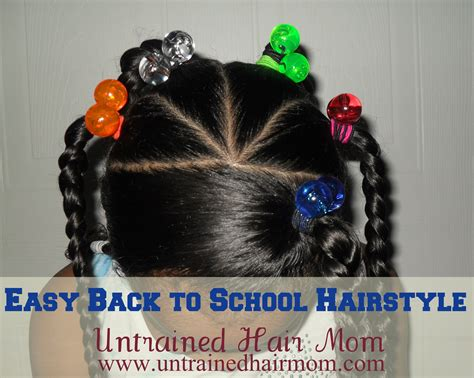 easy biracial hairstyles quick easy cute back to school hairstyle august hair