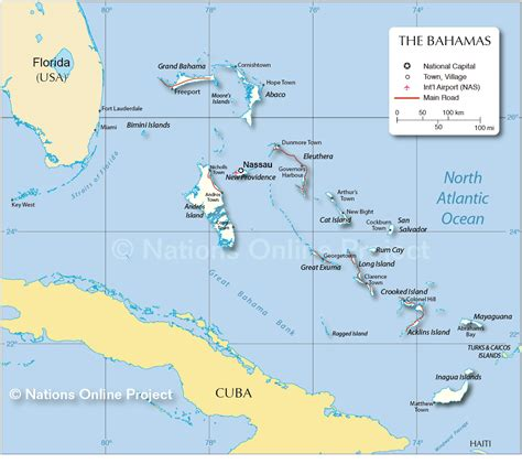 map of usa and bahamas map of the bahamas nations project