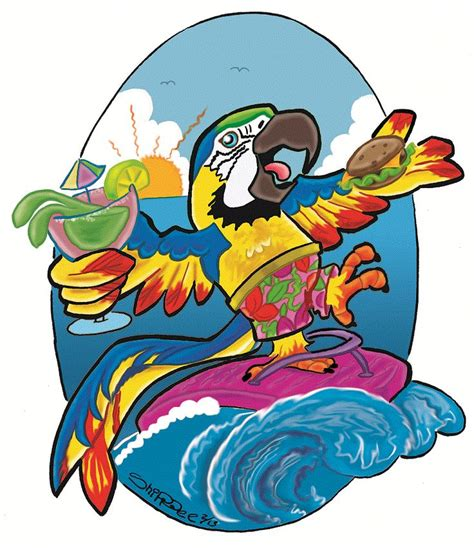 margaritaville clipart 17 best images about parrot art on pinterest tropical