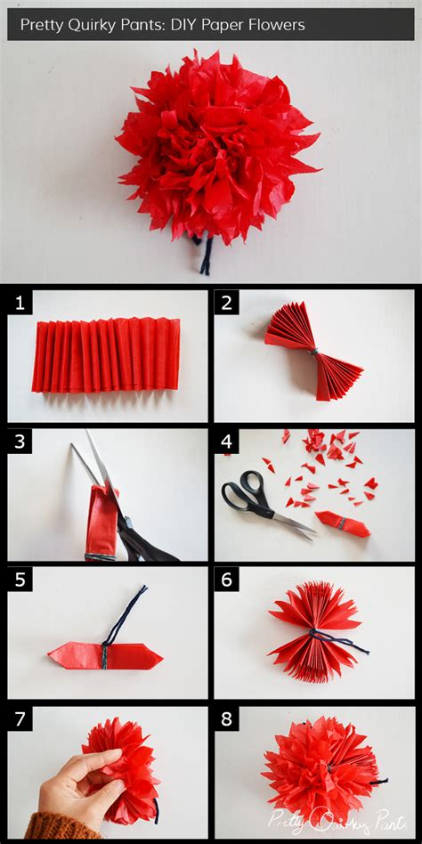 How To Make A Flower Using Crepe Paper - pretty diy paper flowers