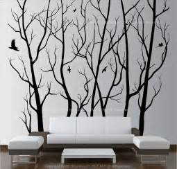 Large Wall Art by Large Wall Art Decor Vinyl Tree Forest Decal Sticker