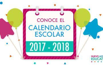 calendario escolar para el ciclo escolar 2017 2018