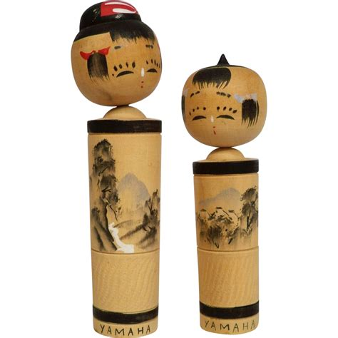 japanese promotion gifts 1963 japanese kokeshi dolls made for yamama piano promotion japan dolls and figurines