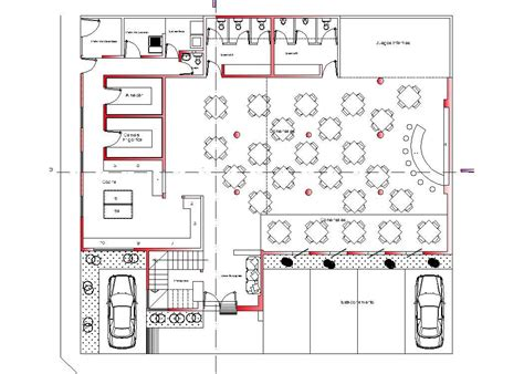 view printable area autocad restaurant hotel roof top hotel 2d dwg plan for autocad