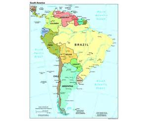 south america political map with capitals maps of south america and south american countries