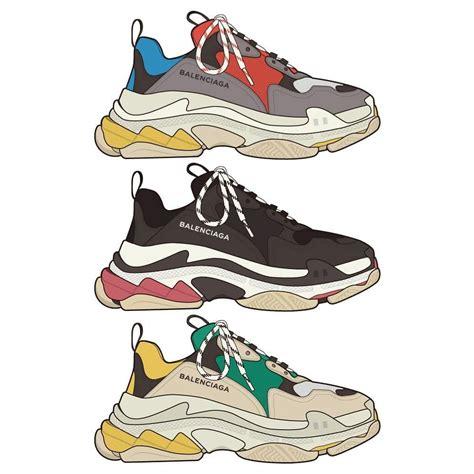 balenciaga s visual inspiration in 2019 fashion sketches fashion shoes fashion