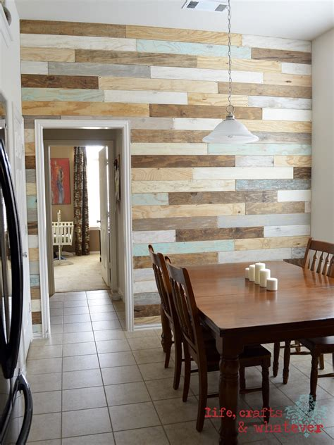 wood plank accent wall walls to hold me up pinterest life crafts whatever my plank wall finally