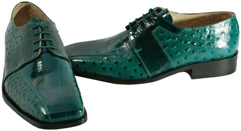teal oxford shoes fortune mens shoes teal ostrich croco embossed leather