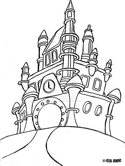 coloring page cinderella s castle cinderella castle coloring pages az coloring pages