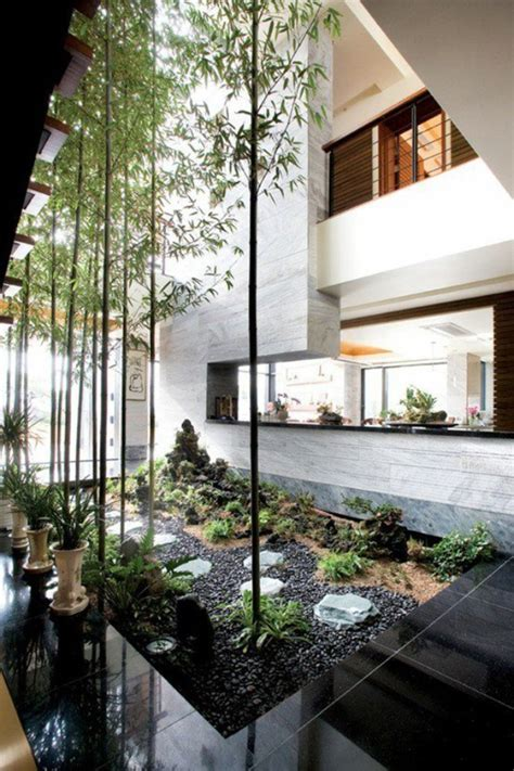 inside garden indoor courtyard design ideas