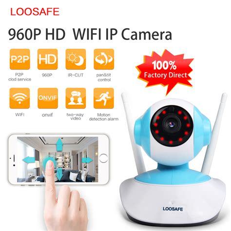loosafe 960p ip wifi home security indoor