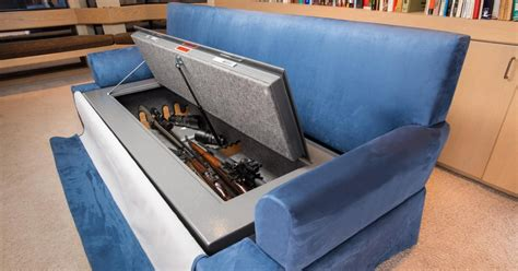 Stop Going On Sofa by Couchbunker Is A Bullet Resistant Sofa Safe That Holds