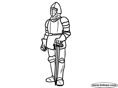 coloring page of knight in armor armor coloring page