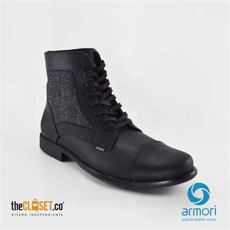 botas cuero botas hombre en cuero negras thecloset co