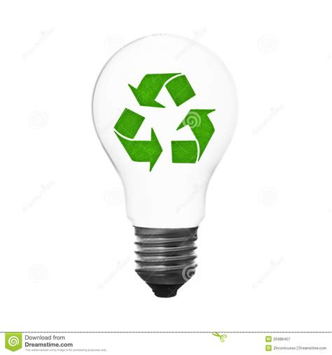recycle lightbulb royalty free stock photography image