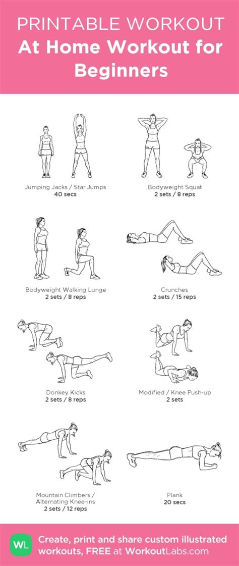 home workout plan for women at home full body workout for beginners women from