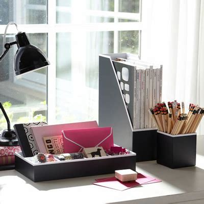 Preppy Desk Accessories Black Preppy Paper Desk Accessories Decor By Color