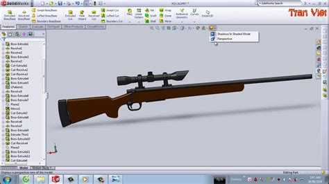 solidworks tutorial gun solidworks tutorial m24 sniper rifle youtube