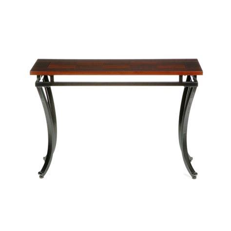 home depot sofa table home decorators collection modesto rich espresso contoured