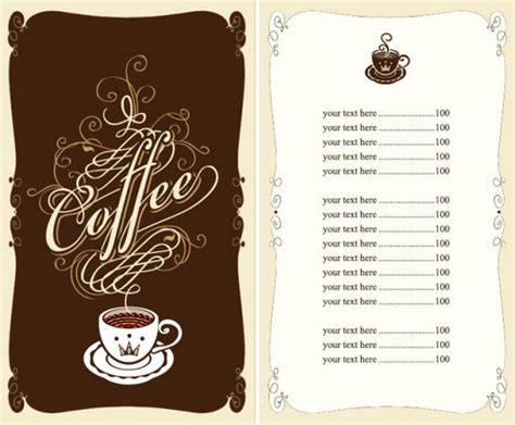 cafe menu template 15 free restaurant menu templates covers designscrazed