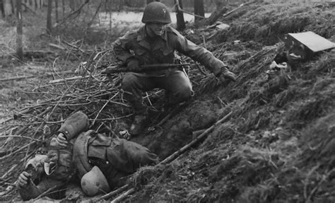 Wwii Kia Us Army Lt Chester Slaughter Next To A German Kia Half Of
