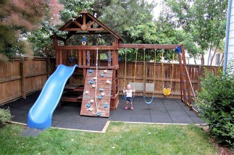 safe play tiles   diy playground backyard play