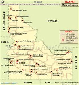 us map best cities to visit places to visit in idaho idaho travel attractions map