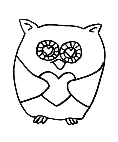 valentine owl coloring page how to draw owl valentine