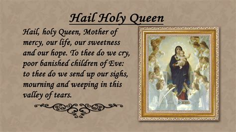 printable version of hail holy queen pray the rosary dvd pray the rosary dvd