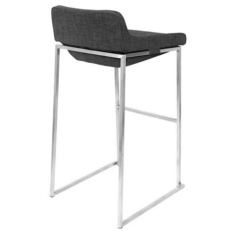 Charcoal Stool by Modern Bar Stools Shad Charcoal Bar Stool Eurway