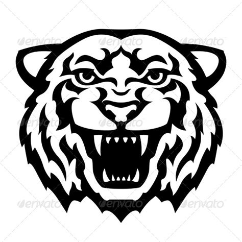 stock vector graphicriver tiger head tattoo 6078584