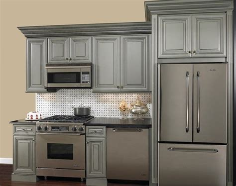 grey glazed cabinets for the home grey