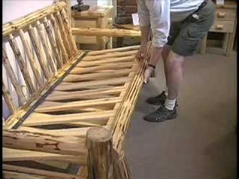 how to make futon misty mountain furniture log sofa futon youtube