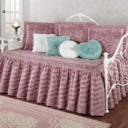 Daybed Comforter Sets Intrigue Chenille Ruffled Flounce Daybed Bedding Set