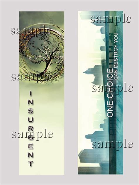 Printable Divergent Bookmarks | divergent or insurgent bookmark choose one gifts by