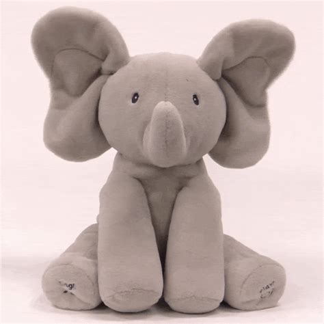 flappy the elephant animated plush sings and plays peek