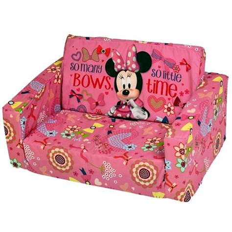 minnie mouse fold out couch disney minnie mouse flip out double foam sofa settee kids