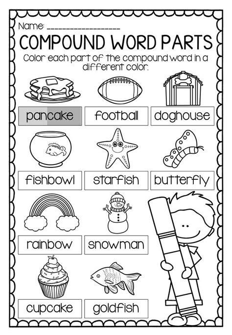 compound words worksheets 1st grade compound nouns worksheets for graders compound