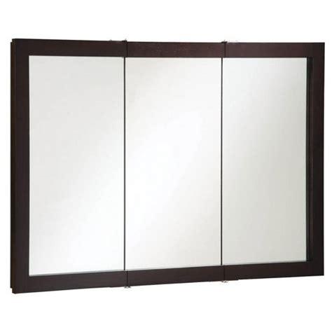 48 inch medicine cabinet design house 541367 ventura espresso tri view medicine