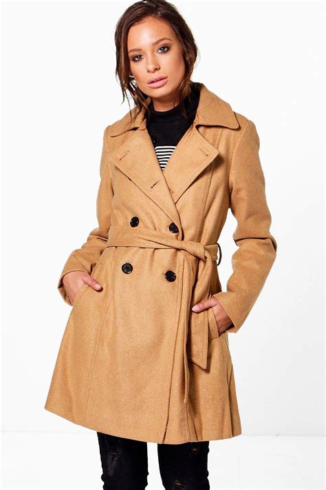 Breasted Belted Coat breasted belted trench coat at boohoo