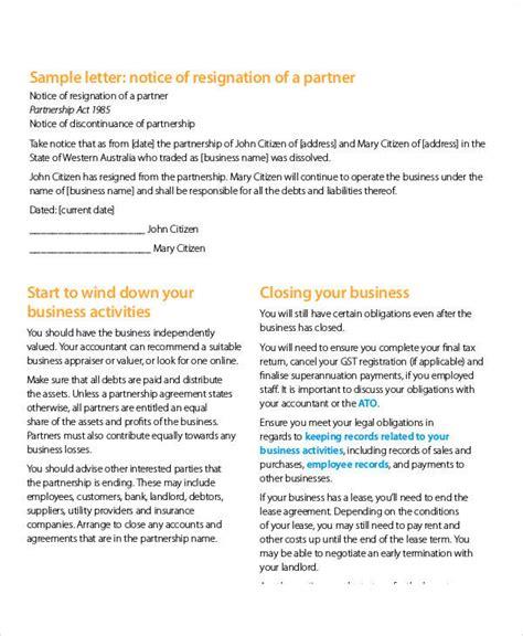 termination letter sle bc termination letter sle business partner 28 images
