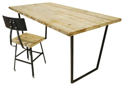 rustic modern desk brooklyn modern rustic reclaimed wood desk contemporary