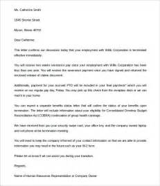 Employee Termination Letter Template by Free Termination Letter Template 33 Free Sle